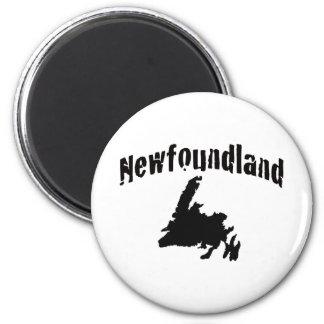 Newfoundland 2 Inch Round Magnet