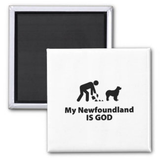 Newfoundland 2 Inch Square Magnet