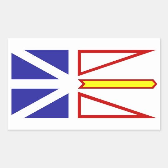 Newfoundland and Labrador Flag Rectangular Sticker
