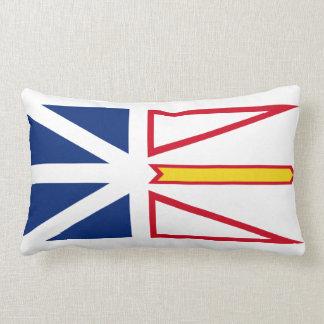 Newfoundland and Labrador flag Throw Pillow