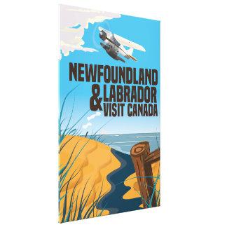Newfoundland and Labrador travel poster Canvas Print