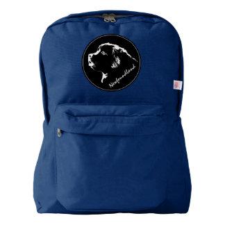 Newfoundland Backpack Puppy Dog School Bags Custom