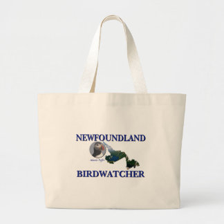 Newfoundland Birdwatcher Large Tote Bag