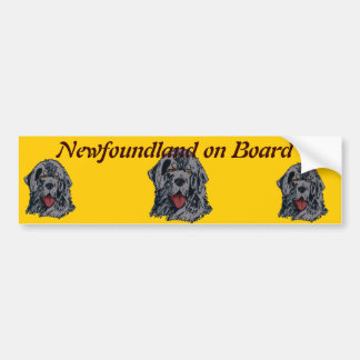Newfoundland - Black Newfie Portrait Bumper Sticker