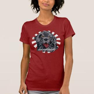 Newfoundland - Black Newfie Portrait T-Shirt