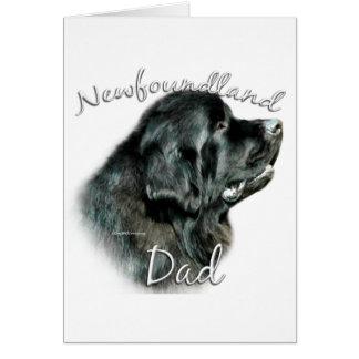 Newfoundland (blk) Dad 2 Greeting Card