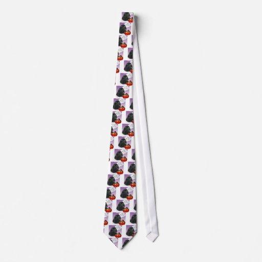 Newfoundland (blk) Halloween Candy Neckties