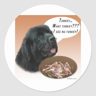 Newfoundland blk Turkey Stickers