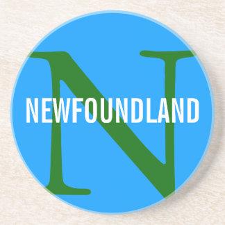 Newfoundland Breed Monogram Design Coaster