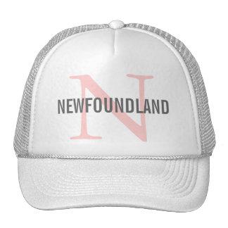 Newfoundland Breed Monogram Design Trucker Hat