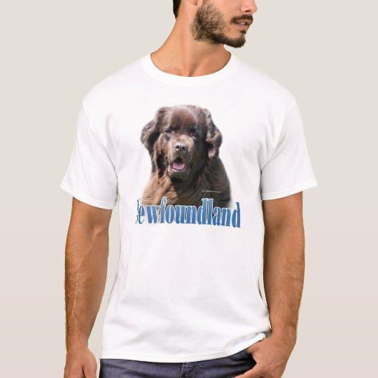 Newfoundland (brown) Name T-Shirt