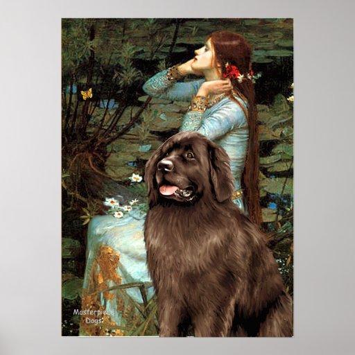 Newfoundland (brown) - Ophelia Seated Print