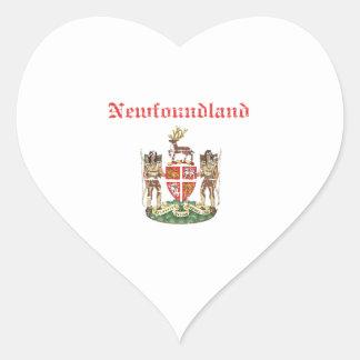 newfoundland Canada coat of arms design Heart Sticker