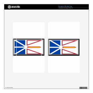 Newfoundland (Canada) Flag Kindle Fire Decals