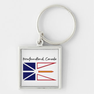 Newfoundland Canada Silver-Colored Square Keychain