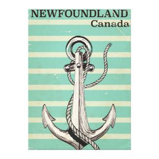Newfoundland Canadian vintage nautical Canvas Print