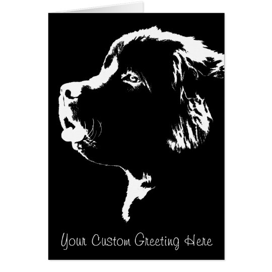 Newfoundland Card Custom Newfoundland Dog Card
