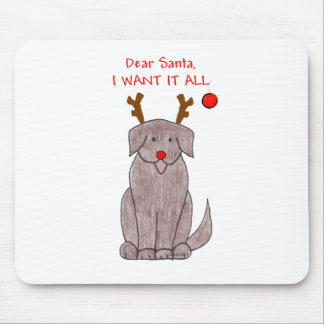Newfoundland Chocolate Dear Santa Mouse Pad