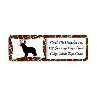 Newfoundland Christmas Return Address Label