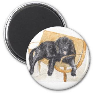 Newfoundland Dog 2 Inch Round Magnet