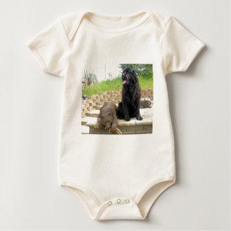 Newfoundland dog-2 yrs. old baby bodysuit