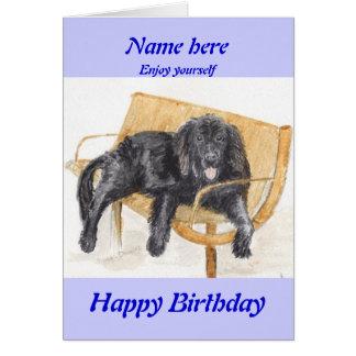 Newfoundland Dog birthday card add name