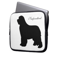 Neoprene Laptop Sleeve 10 inch with Newfoundland Phone Cases design