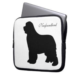 Newfoundland dog black silhouette laptop bag computer sleeves