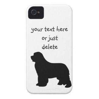 Newfoundland dog blackberry bold case, silhouette iPhone 4 case