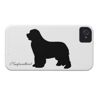 Newfoundland dog blackberry bold case, silhouette iPhone 4 Case-Mate cases