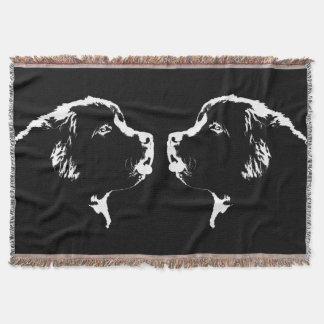 Newfoundland Dog Blanket Puppy Dog Throw Blanket