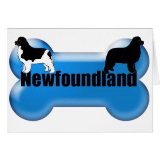 Newfoundland Dog bone Card