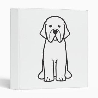 Newfoundland Dog Cartoon Vinyl Binder