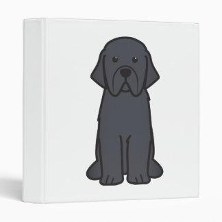 Newfoundland Dog Cartoon 3 Ring Binder