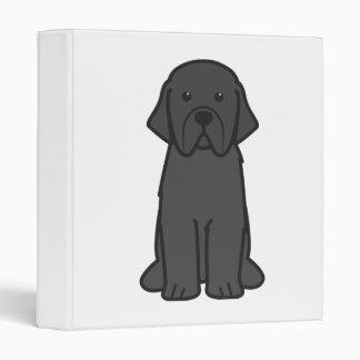 Newfoundland Dog Cartoon Binders