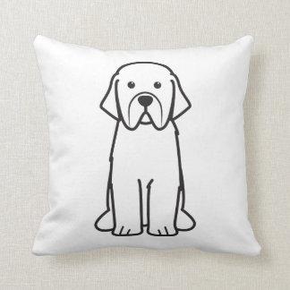 Newfoundland Dog Cartoon Throw Pillow
