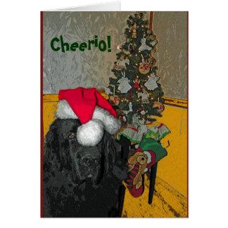Newfoundland Dog Christmas Card