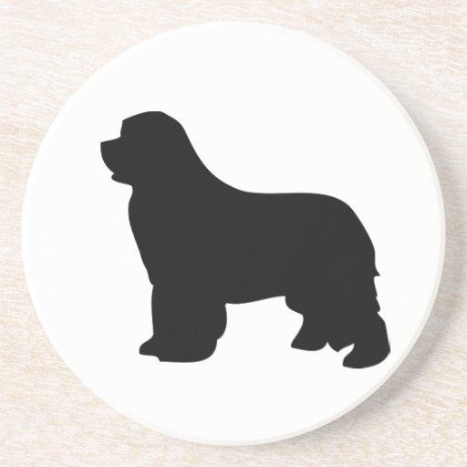 Newfoundland dog coaster, black silhouette, gift
