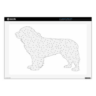"Newfoundland Dog Decal For 17"" Laptop"