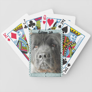 Newfoundland Dog deck of cards Bicycle Playing Cards