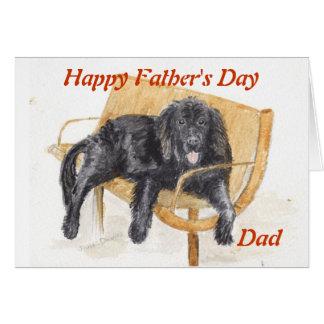 Newfoundland Dog Father's day card