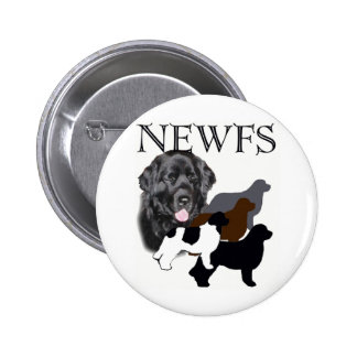 Newfoundland dog four colors button