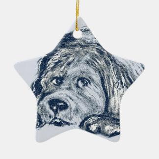 Newfoundland Dog Gift Ceramic Ornament