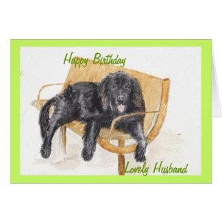 Newfoundland Dog Happy birthday husband. Card