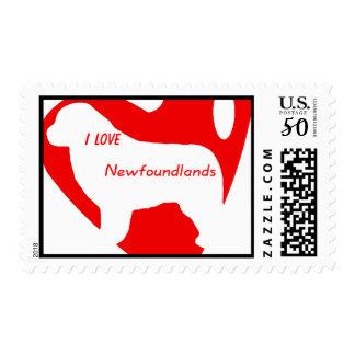 Newfoundland Dog Heart Stamp