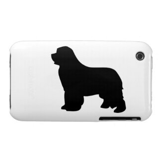 Newfoundland dog iphone 3G case barely, silhouette iPhone 3 Case-Mate Cases
