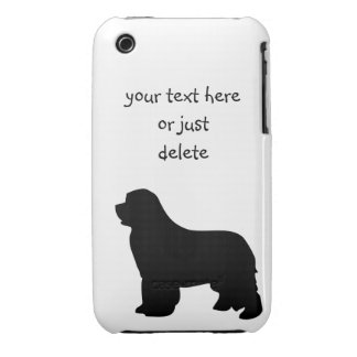 Newfoundland dog iphone 3G case barely, silhouette iPhone 3 Cover
