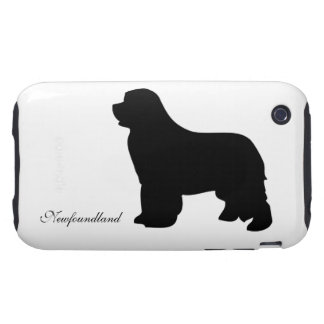 Newfoundland dog iphone 3G case barely, silhouette Tough iPhone 3 Cases