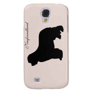 Newfoundland dog iphone 3G case, black silhouette Galaxy S4 Cover