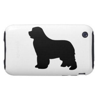 Newfoundland dog iphone 3G case tough, silhouette Tough iPhone 3 Covers